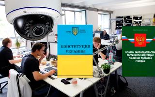 Правомерность использования систем видеонаблюдения в офисе: россия и украина