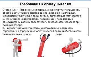 Требования к огнетушителям в школе: расположение и виды устройств