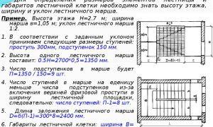 Классификация незадымляемых лестничных клеток: ширина маршей и высота ступеней