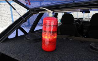 Какой огнетушитель должен быть в автомобиле в 2018 году: требования гибдд