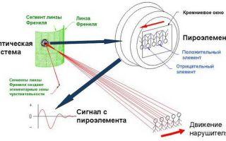 Инфракрасный датчик движения: оптическая схема и блок обработки сигналов