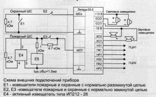 Кварц прибор приемно-контрольный охранно-пожарный: инструкция и схема