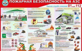 Правила пожарной безопасности и техника поведения на азс