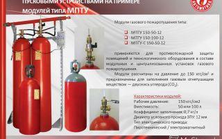 Определение газового пожаротушения: где применяются модули?